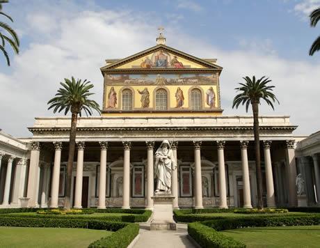Βασιλική του Αγίου Παύλου έξω από τα τείχη στη Ρώμη φωτογραφία