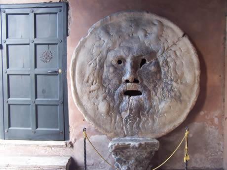 Bocca della Verita το στόμα της αλήθειας στη Ρώμη φωτογραφία