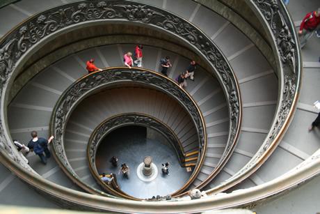 Διπλή σκάλα του το μουσείο του Βατικανού φωτογραφία