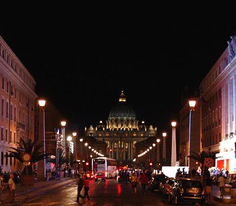 Βραδιά στη Via della Conciliazione στο Βατικανό φωτογραφία